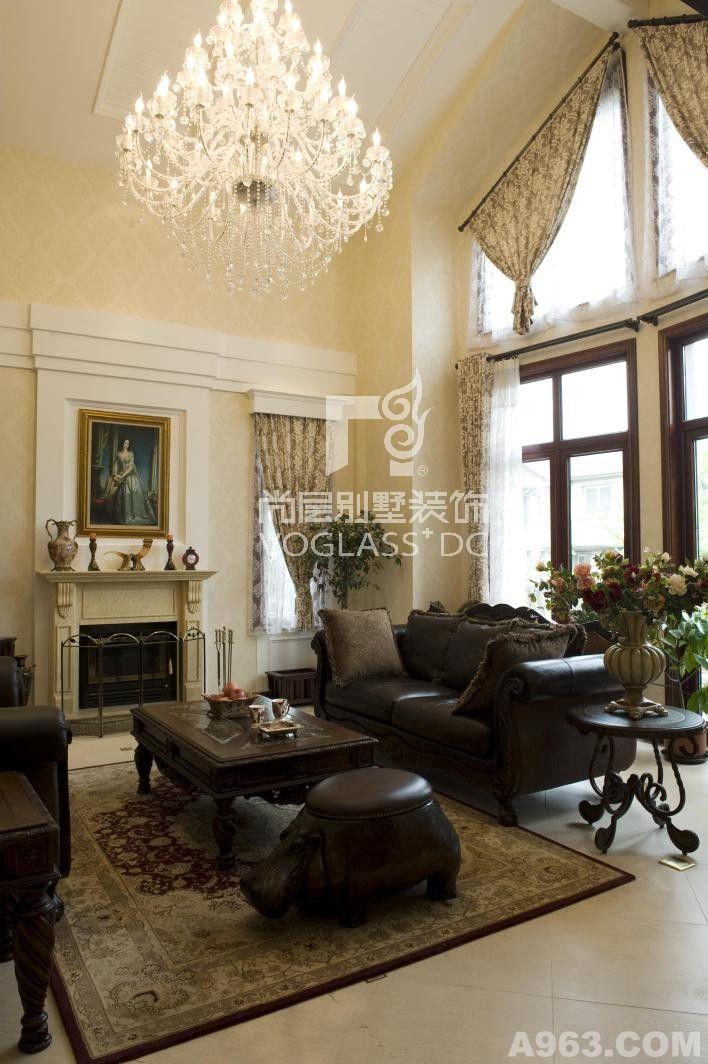 美式使用材料:欧松板,奥松板,德国都芳漆等设计施工:成都尚层别墅装饰图片
