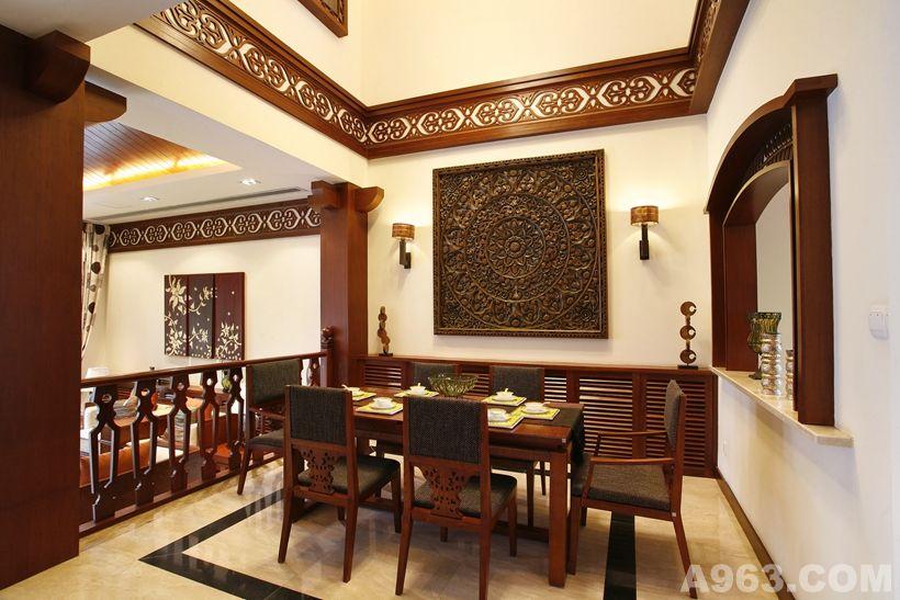 建发浅水湾东南亚风格古典别墅装修