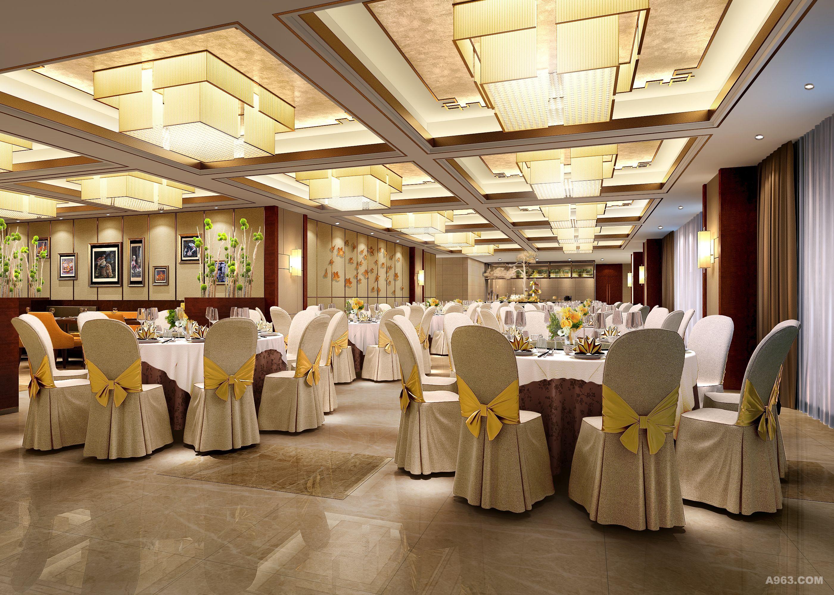 理县古尔沟诗曼温泉主题酒店设计方案宴会厅