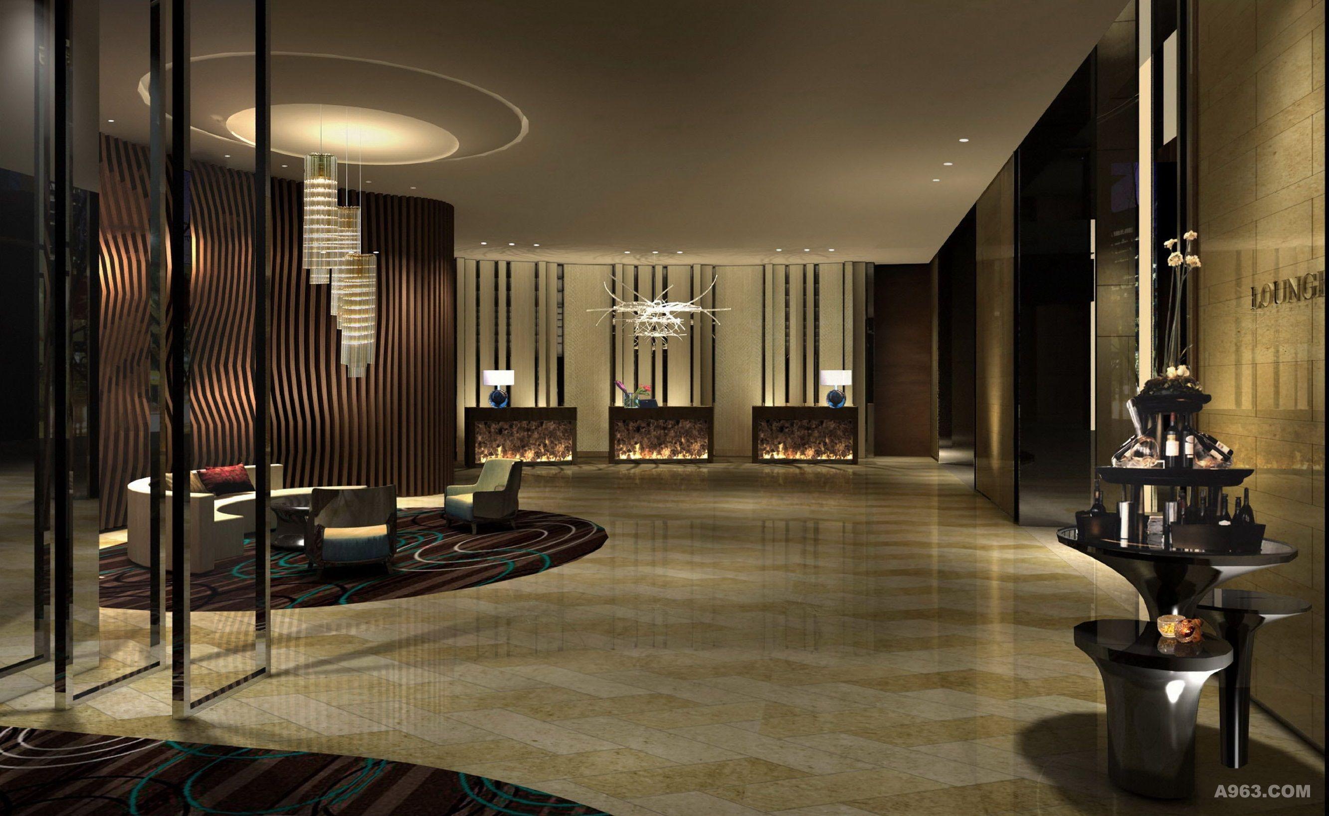 以泉为源点 以水为元素,现代中式设计手法,融入当地文化特色,打造具有地域文化性的精品星级酒店。色彩采用深咖为主色调贯穿整个空间,将酒店色奢华感、品质感充分展示。多元化软装构成让酒店增色不少。 青木壹品设计专注于:星级酒店、精品酒店、度假酒店的设计与研发