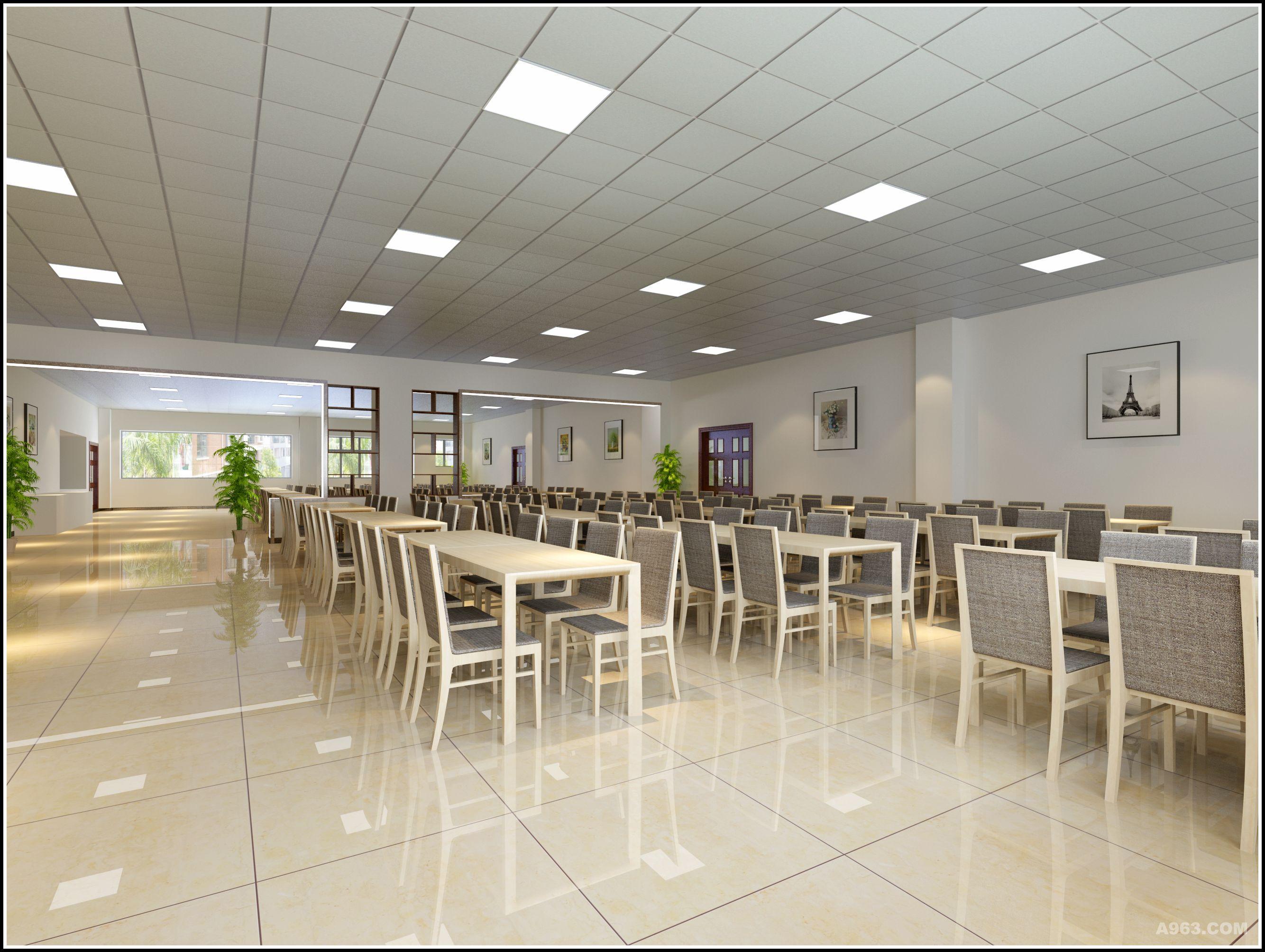 熊攀云-观山湖分局办公区/食堂装修设计,现代简约风格设计.