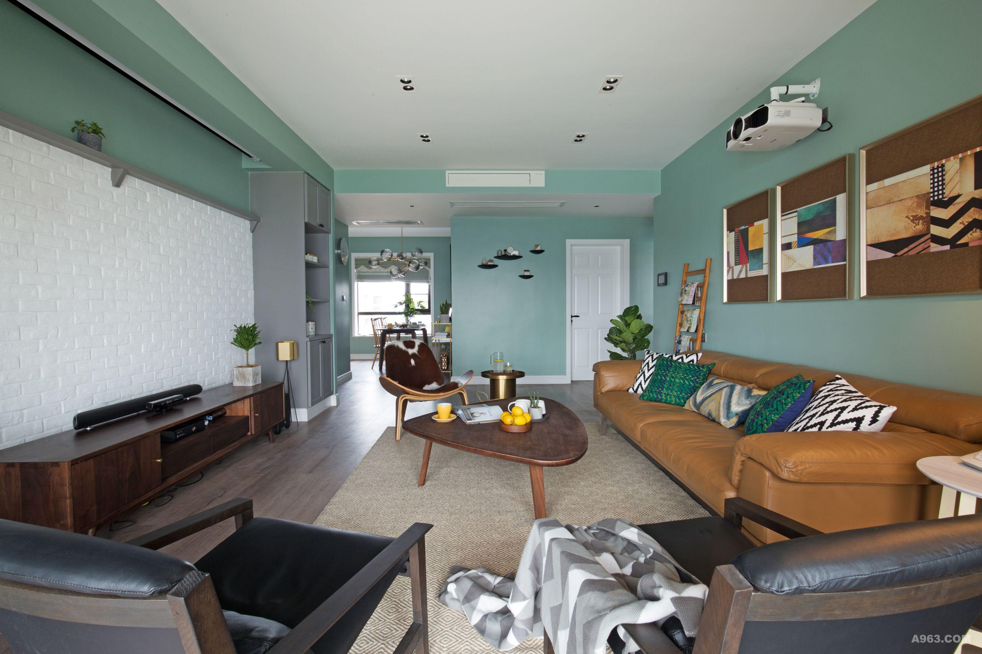 客厅木工花架造型图片
