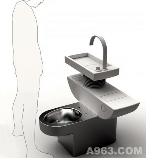 卫浴展厅 节水马桶创意设计