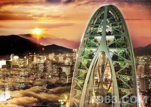 环境景观-科幻版仿生摩天楼 - 设计前沿 - 资讯中心