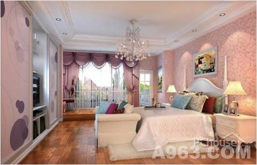 采用欧式风格,卧室的设计别具特色