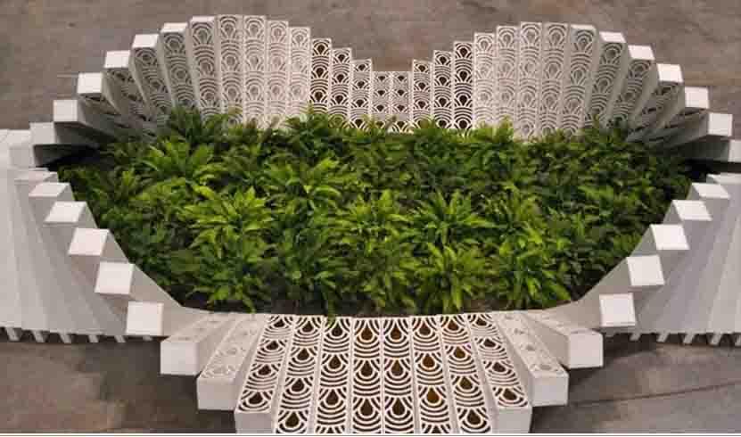 设计欣赏 室内花园装饰装置项目