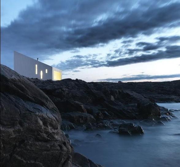 建筑设计欣赏 加拿大纽芬兰福戈岛白色建筑squish工作