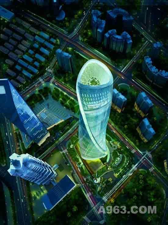 迪拜塔公园平面图分析图