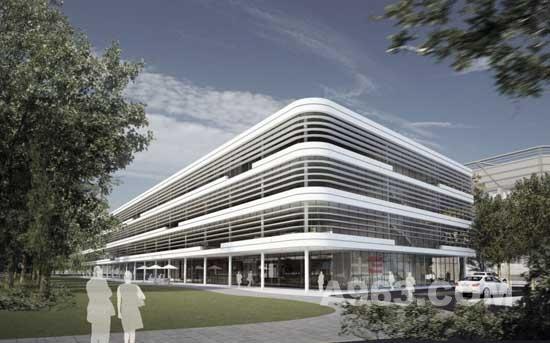 办公楼设计效果图-德国trianel