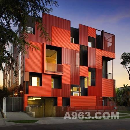 住宅设计 美国好莱坞集合住宅
