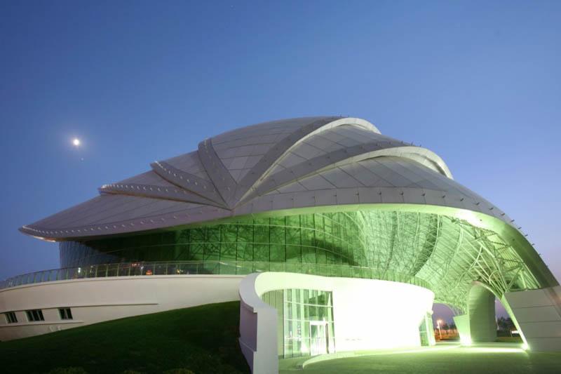 建筑设计:中国大连贝壳博物馆