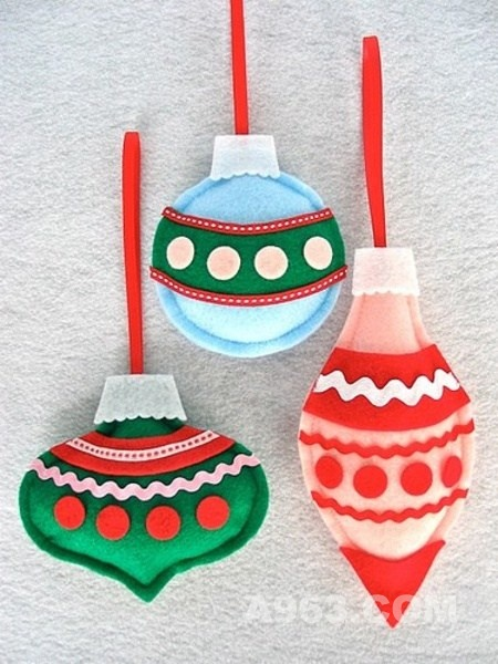 趣味手工制作 diy圣诞树布艺饰物