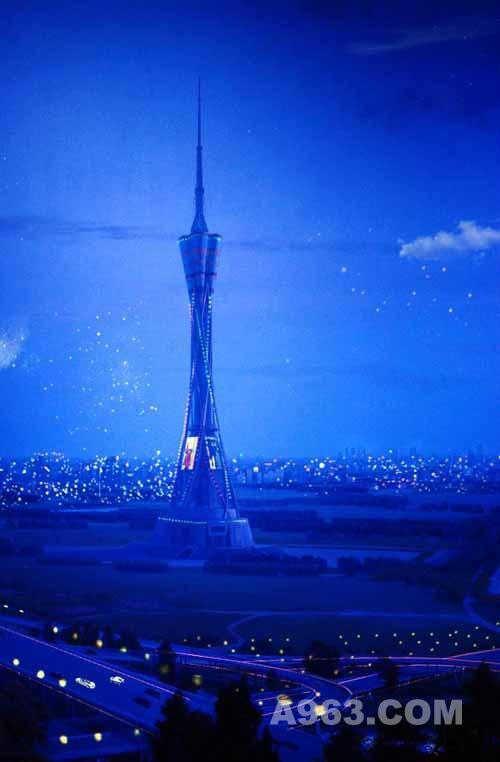 建筑设计欣赏:河南广播电视塔-中原福塔