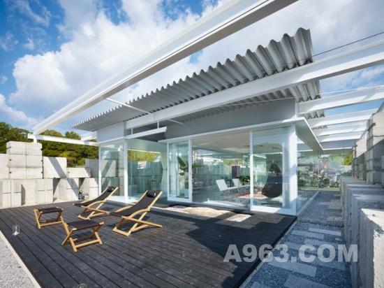 日本广岛玻璃房室内设计欣赏 naf architect & design