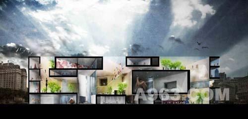 布宜诺斯艾利斯当代艺术博物馆设计竞赛作品效果图欣赏