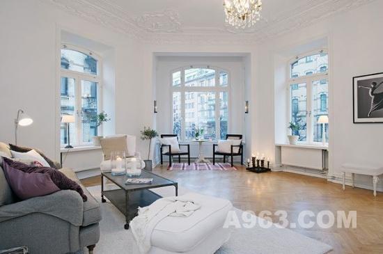 清新优雅的软装设计:瑞典白色公寓