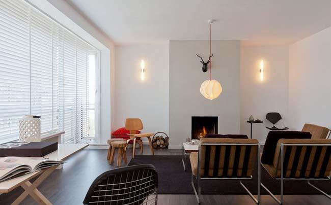 高雅简洁室内设计:白色气质优雅公寓
